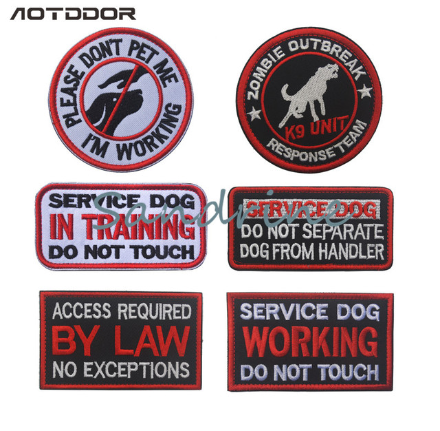 f86fd630884 service dog patch embroidery the tactical military patches badges for  clothes clothing HOOK LOOP