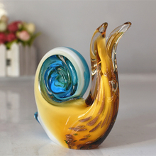 Colored glaze snail ornaments Living Room Desktop Decor Nordic style glass crafts birthday gifts home decoration accessories