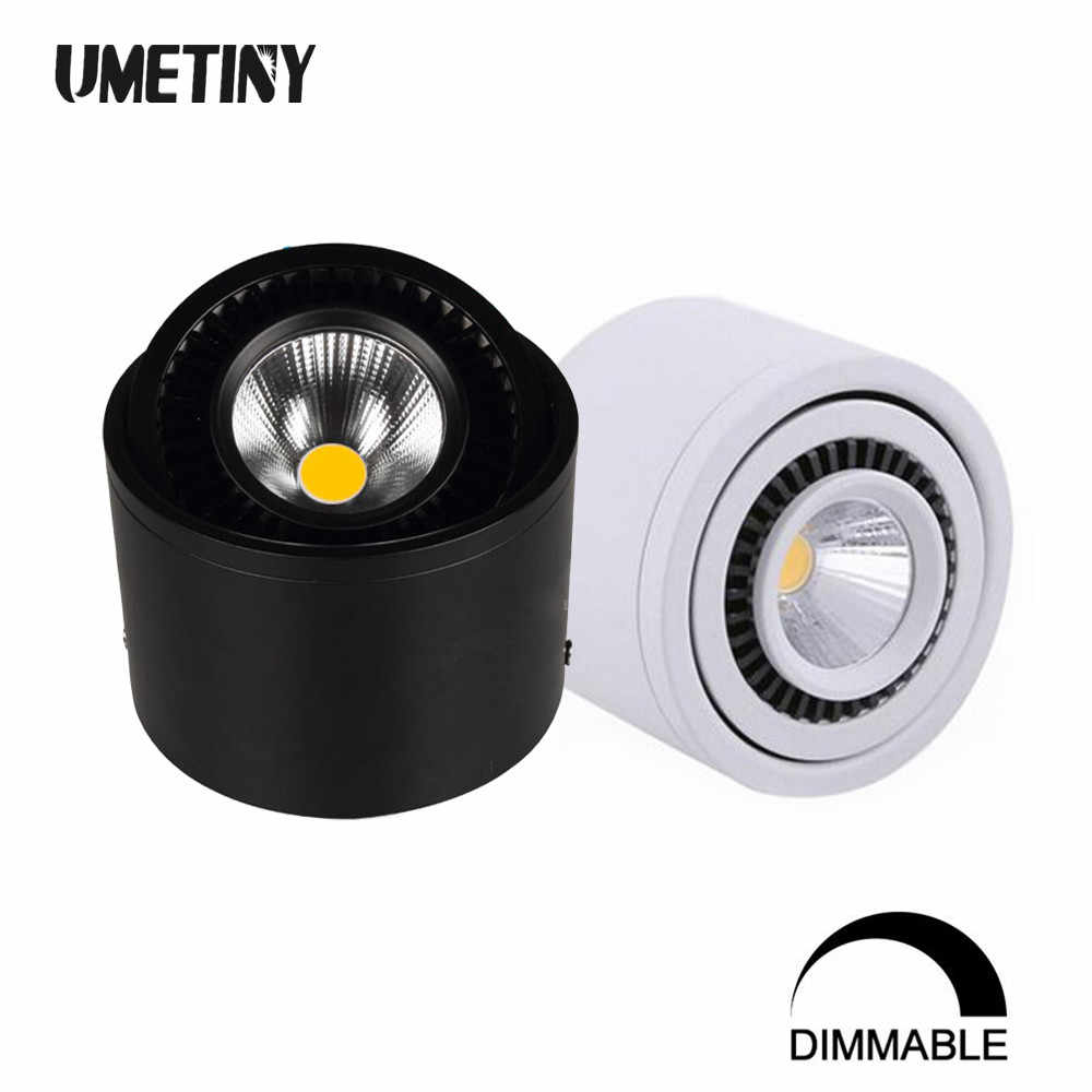 Rotazione di 360 Gradi Cob Led da Incasso Luci da Incasso Dimmable 5W 7W 9W 15W Surface Mounted Soffitto Del Led lampade Luce Del Punto Ha Condotto Il Downlight