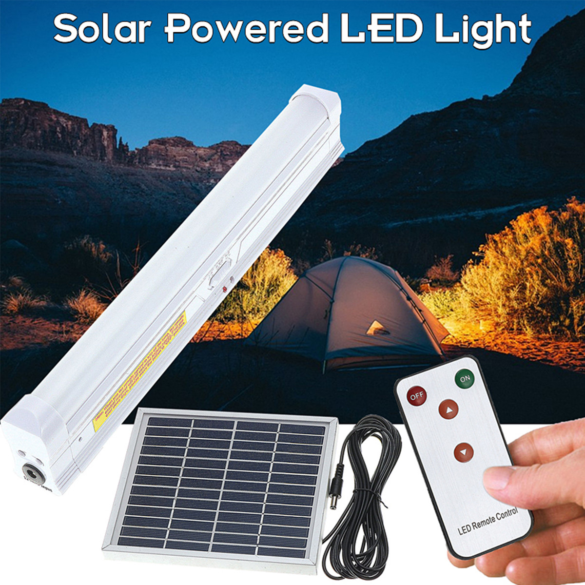 30 Led Remote Control Solar Light 5w Solar Panel Lamp Outdoor Garden Emergency Lighting Camping