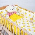 5 Colores Favoritos de Los Niños Impreso Algodón Multifunción Cuna Bumpers Suave Transpirable Bebé Cuna Cama Alrededor