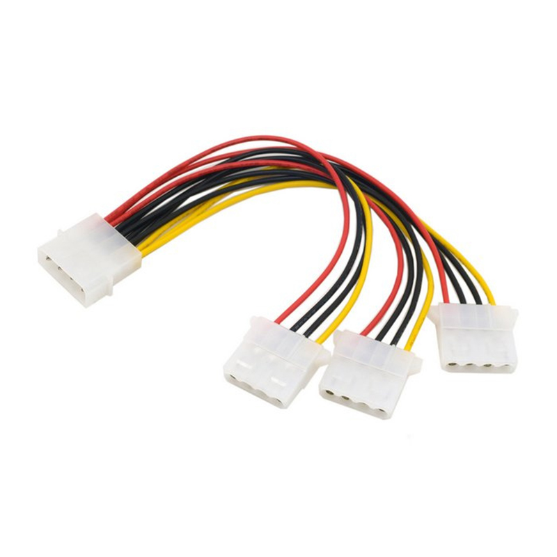 Cable-IDE-4-Pin-Male-to-3-IDE-Female-Y-Type-Splitter-Power-supply-Extension-Cable