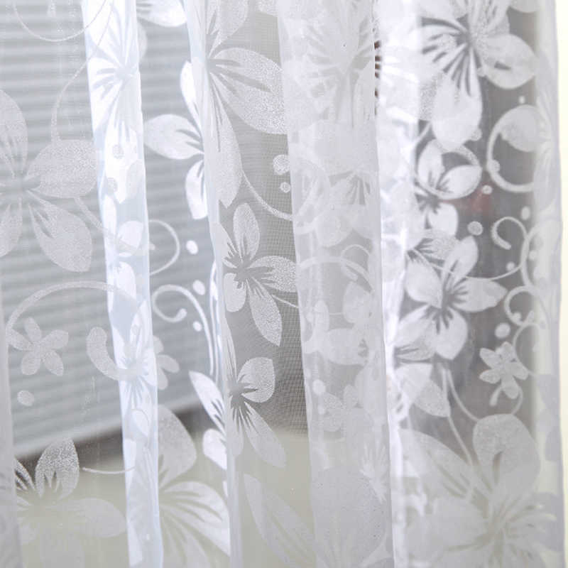 New Curtain Home Door Window Panel Room Divider String Curtain Sheer Voile Tulle Drape Scarfs Curtains