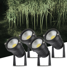 Tomshine 5W 4 Pack COB LED Lawn Lamp AC/DC12V Outdoor Garden Decorative Landscape light 500LM Super Bright High Power Spotlight(China)