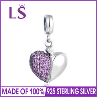 LS Fashion I Love You Charms Beads European Bead DIY Craft Bracelet Necklace Jewelry Accessories for Women