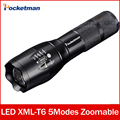 flashlight cree xm-l t6 Zoomable 5 Modes waterproof black 3800lm lampe torche led torchlanterna for 18650 zk50