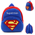 IVI Superman schoolbag for Toddler Kids Children Boy Girl Plush Cartoon Backpack Schoolbag Rucksack School Bags