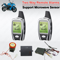 Waterproof Two Way Motorcycle Motor Alarm with Microwave Detecting Function Shock ACC Alarm LED Indicator Remote Start Stop