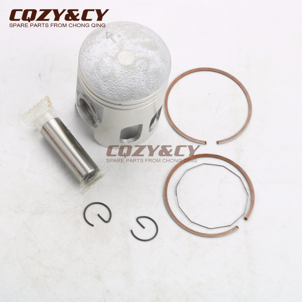 100cc <font><b>52mm</b></font> <font><b>Piston</b></font> Kit & <font><b>Piston</b></font> <font><b>Ring</b></font> for MBK Booster 100 Nitro100 Ovetto100 2T <font><b>Piston</b></font> pimi 14mm image