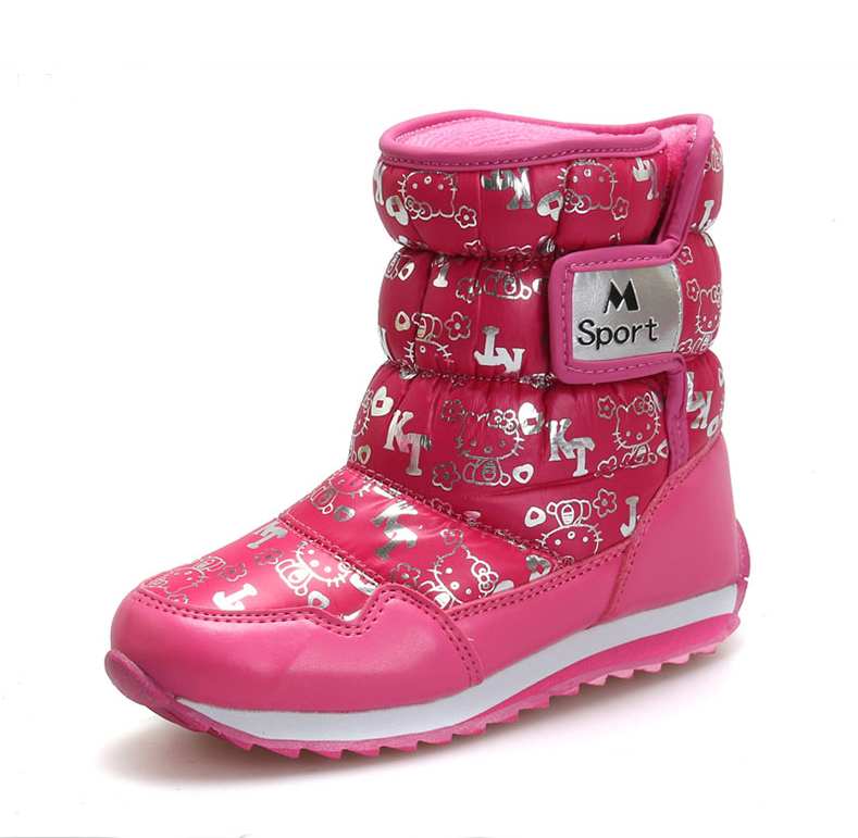 New Children's Snow Boots Girls Boys Winter Boots PU Leather ...