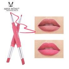 Miss Rose Multi-function Lip Liner Lipstick Pen Waterproof Durable Non-stick Cup Moisturizing