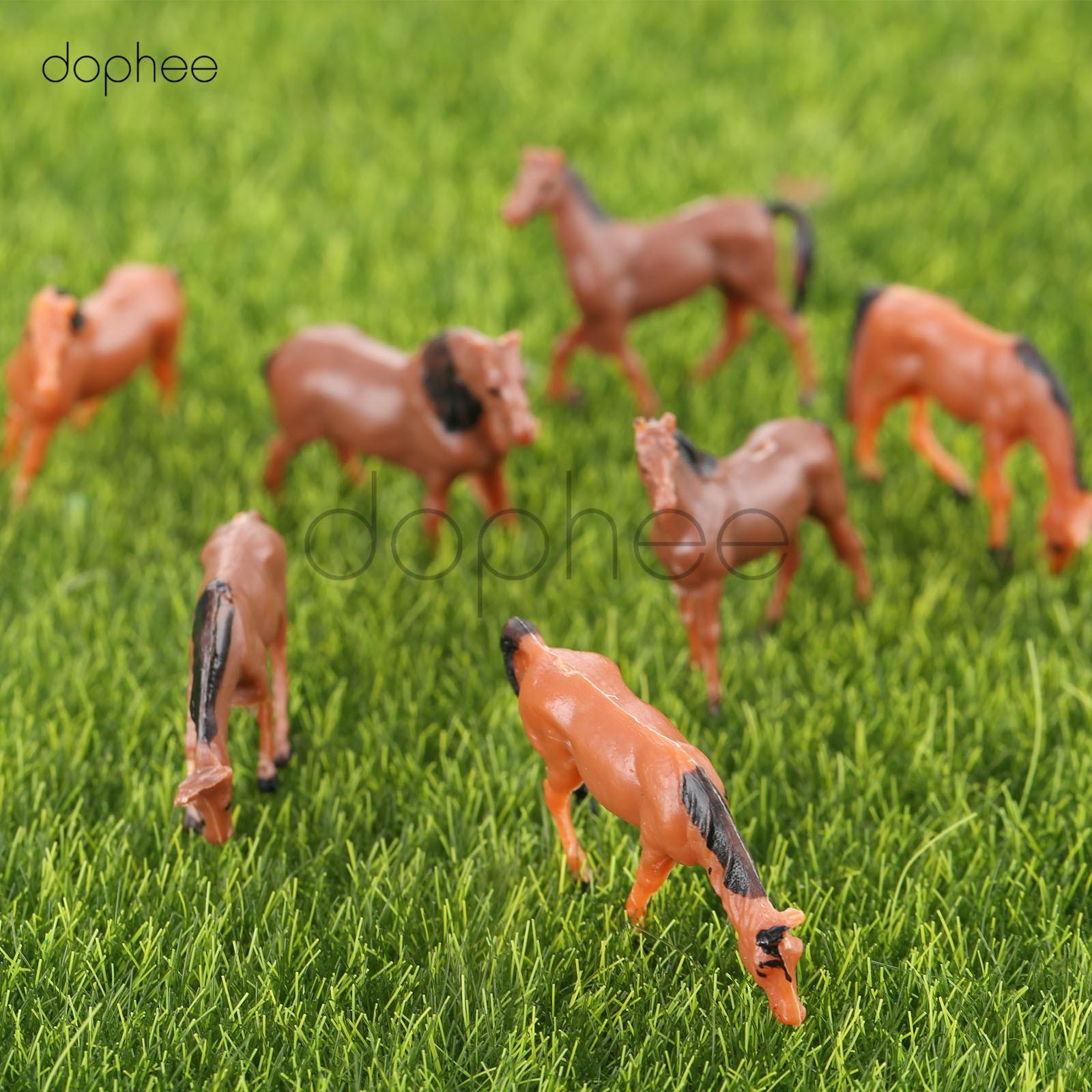 Figures People 10pcs Colored Painted Model Horse Farm Animals Scenery Miniatures Diy Scale 1 87 Toys Hobbies Sc Uat Com