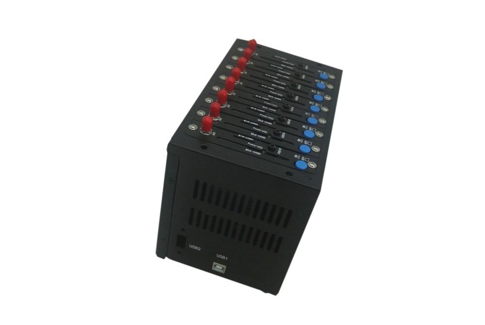 Free shipping wavecom gsm modem 8 port Q2406b modem pool mobile sms ussd stk recharge imei