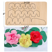 Folded rose  dies 2019 new die cut & wooden Suitable for common cutting machines on the market