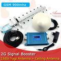 2 Г Мобильный Телефон GSM 900 Усилитель Сигнала GSM980 мГц 2 Г Сигнал Повторителя Сотовый Телефон Усилитель с Яги Антенна/потолок Антенны