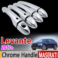 for Maserati Levante 2017 2018 Luxurious Chrome Door Handle Cover Trim Set for 4Door Never Rust Accessories Sticker Car Styling
