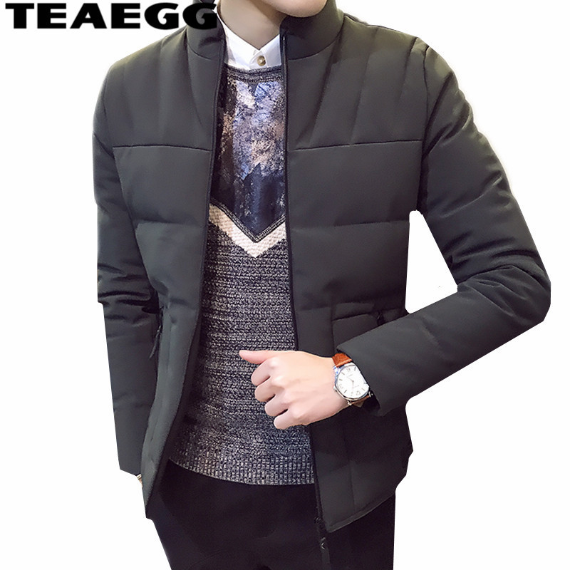 Jackets & Coats Parkas Apprehensive Teaegg New Mens Windbreakers Solid Men Parkas Chaquetas Hombre Invierno Cotton Stand Collar Winter Jaket Men Coat Outwearal1506