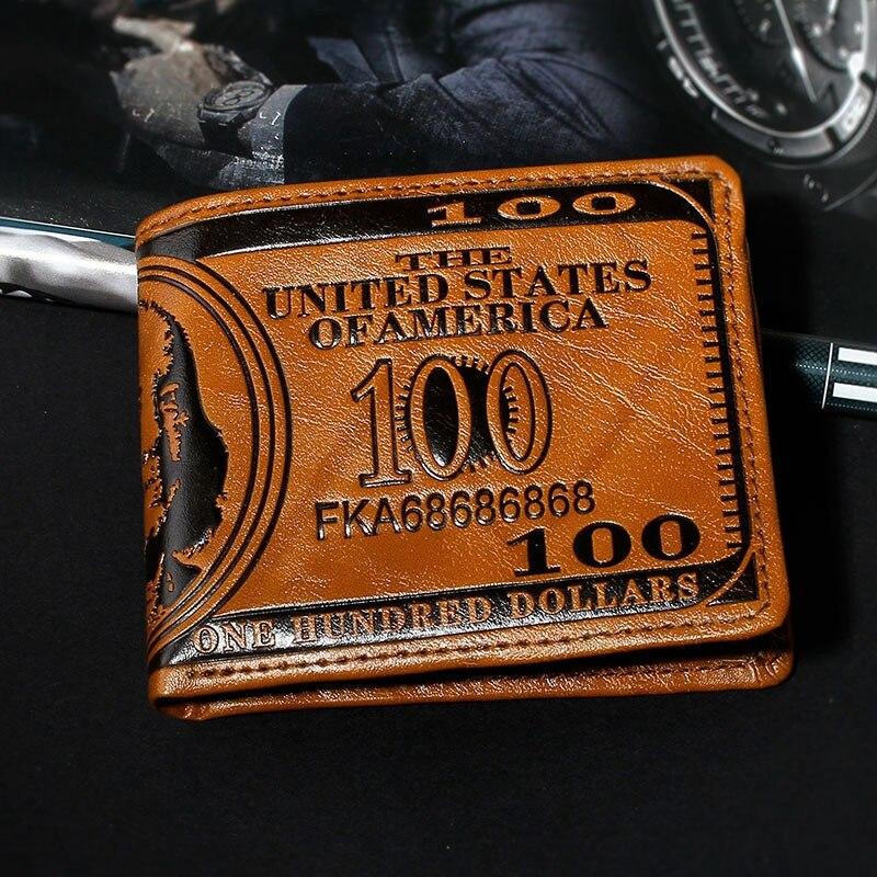 Новый Мужской Кожаный Бумажник короткие бумажник мелкая Монета Кошелек мужской сцепления держатель карты моды мешок денег высокое качество