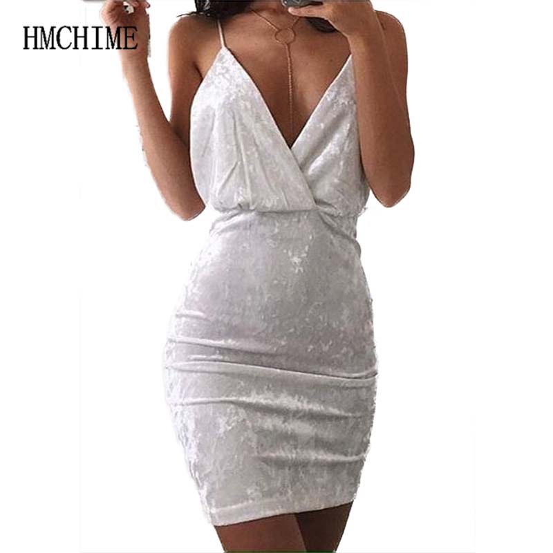 Women velvet mini braces dress sexy club sleeveless backless double V neck pure color package hip female party dress ZB-A142