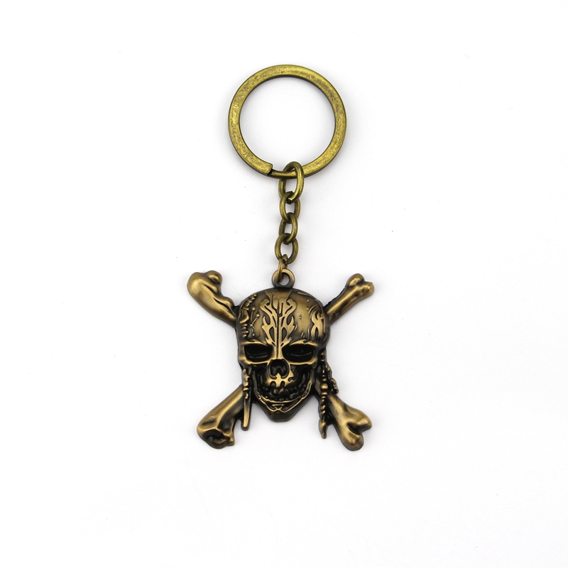 Movie Pirates Of The Caribbean Keychain Metal Key Rings For Gift Chaveiro Key chain Keyring Jewelry For Cars