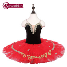 Children Black Classical Stage Ballet Tutu Apperal Girls Red Professional Dance Costumes Kids Skirt Adult Dresses
