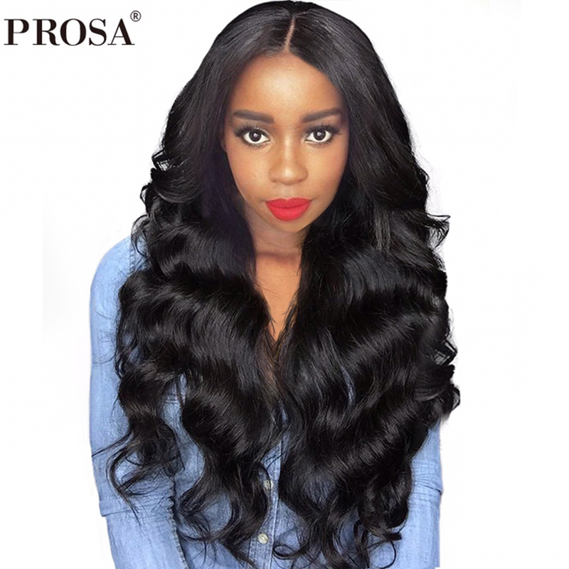 250 Density Lace Front Human Hair Wigs For Women Black Glueless Lace Front Wig Body Wave Full Brazilian Lace Wig Remy Prosa
