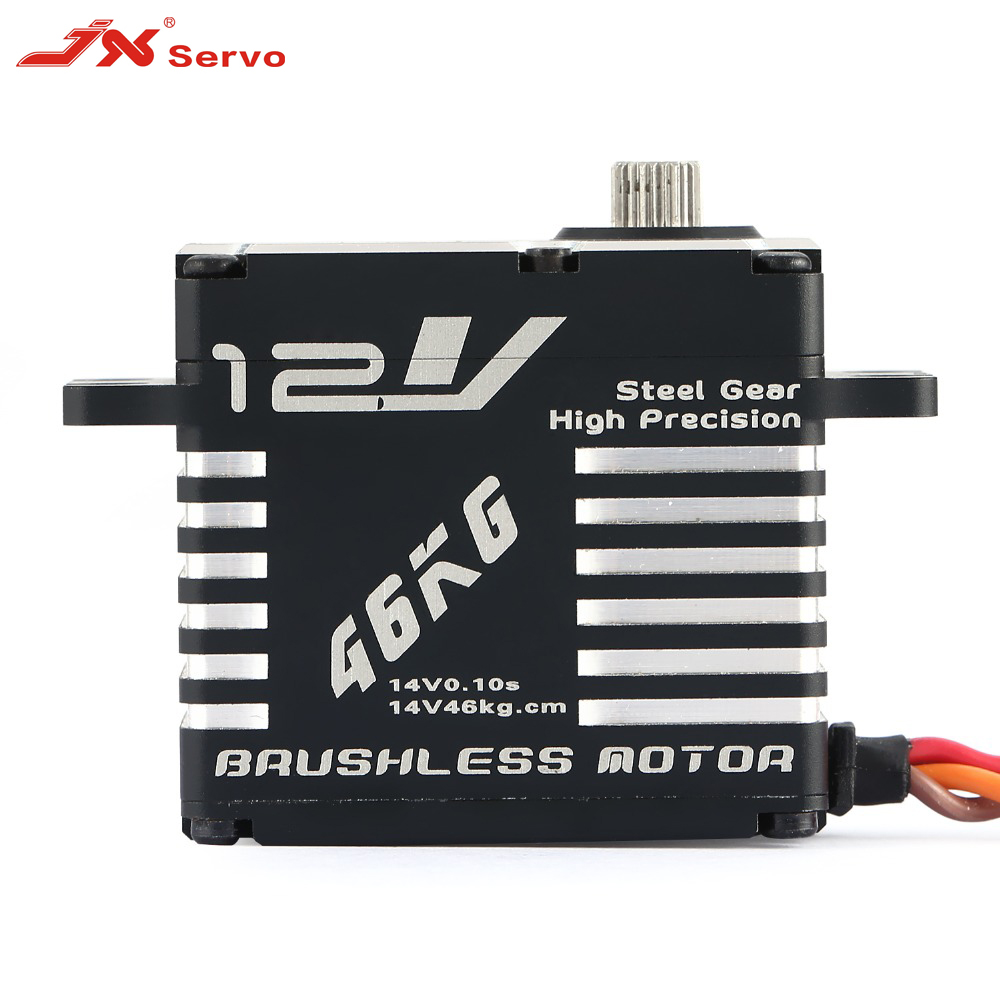 JX Servo BLS 12V7146 12V HV Steel Gear Full CNC Aluminium Shell Coreless Servo for helicopter waterproof-in Parts & Accessories from Toys & Hobbies    1