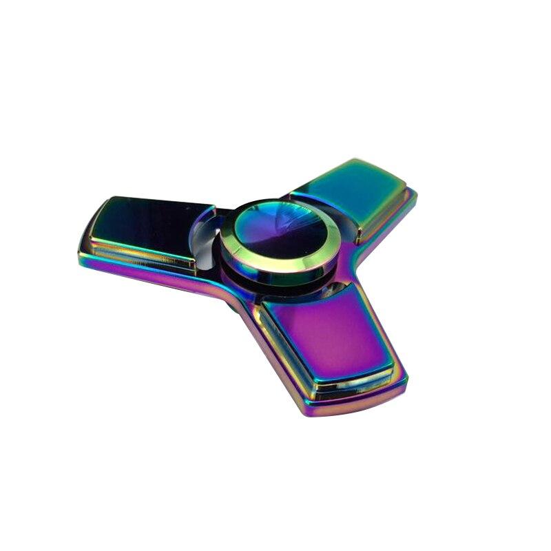 Colorful Tri Spinner Rainbow Classic Metal Fidget Toys EDC Gyro Toys Hand Spinner Torqbar Brass Gyroscope