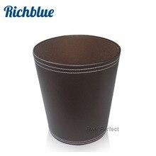 Ever Perfect H28cm круглый из искусственной кожи бытовые/Офисные мелочи отходы мусор мусорное ведро коричневый A018