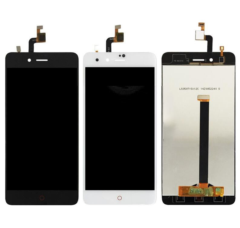 Black LCD <font><b>Screen</b></font> For <font><b>ZTE</b></font> <font><b>Nubia</b></font> <font><b>Z11</b></font> <font><b>mini</b></font> NX549J <font><b>Touch</b></font> <font><b>screen</b></font> digitizer Sensor With LCD Display Full Assembly Replacement image