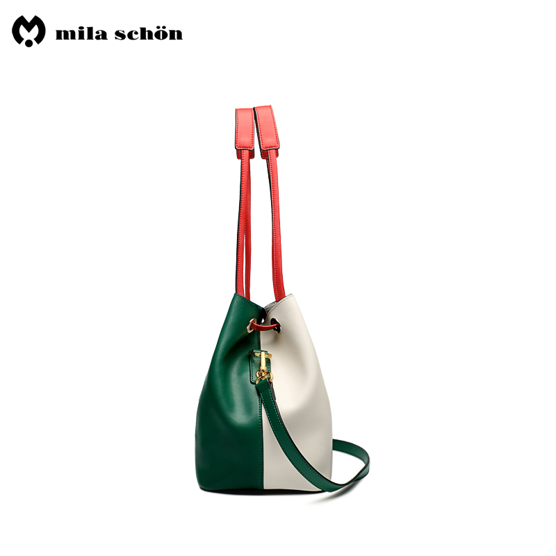 Здесь можно купить  (two sets)Real leather shoulder bags 2018 woman skin bag Classic Solid 2018 Luxury handbag mochila feminina-HL118  Камера и Сумки