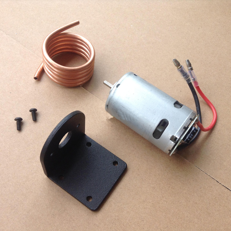 1Set RC Boat 550 Motor Kit Seat for Water Cooling System 550 D Shaft Motor+Copper Water Cooling Jacket+Motor Mount Bracket