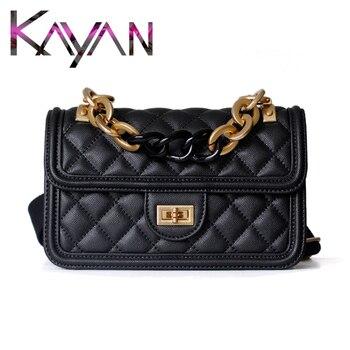 Diamond Lattice Women Bag Color Gradient Flap Bag Large Chain Sachet Messenger Luxury Style Shoulder Crossbody Bag
