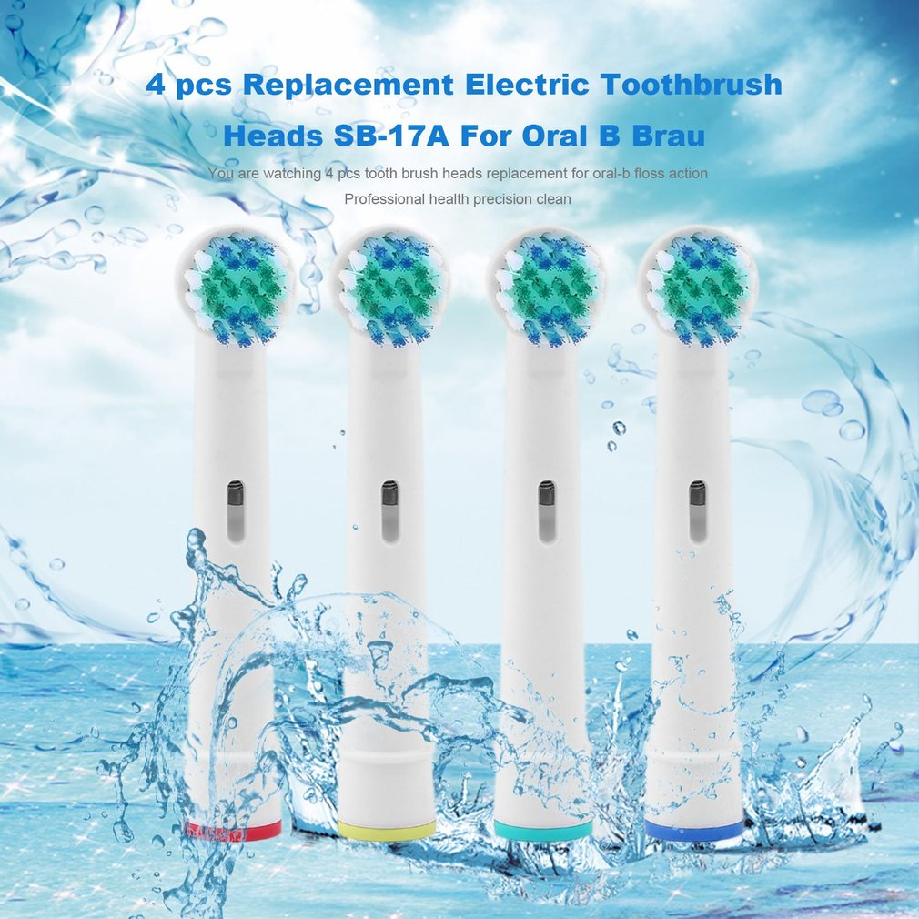 4x Replacement Brush Heads For Oral-B Electric Toothbrush Fit Advance Power/Pro Health/ 3D Excel/Triumph/Vitality Clean image