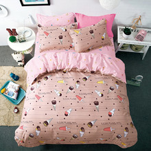3pcs King Size Cartoon Bedding Sets Queen Cute Girl Duvet Cover Flash Pattern for Boys Pillowcases Bed Linen