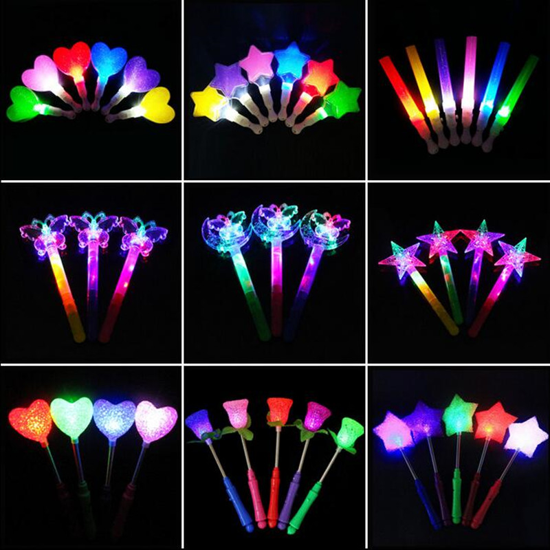 Novelty & Special Use Light Up Jelly Star Heart Led Flashing Necklace Pendants Cosplay Props For Kids Children Adult Wedding Birthday Party Gift Modern Design
