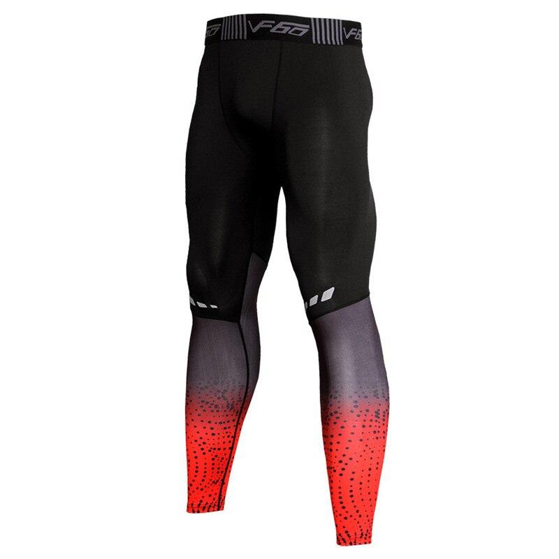 Pantaloni di compressione Degli Uomini di Fitness Leggings Skiny Pantaloni Lunghi di Alta Strentch Bodybuilding Calzamaglie Allenamento Pantaloni Più Il Formato XXXL
