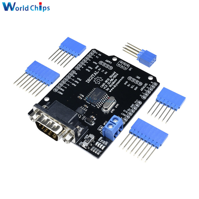 1Set MCP2515 Can Bus Shield Board SPI Interface 9 Pins Standard Sub-D Connector Expansion Module DC 5-12V For Arduino Seeeduino