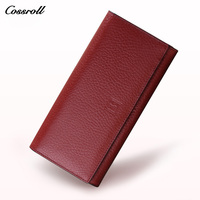 Genuine Leather Guarantee Wallets Women Fashion Clutch Purse Designer Purse Famous Brand Female Luxury Wallet
