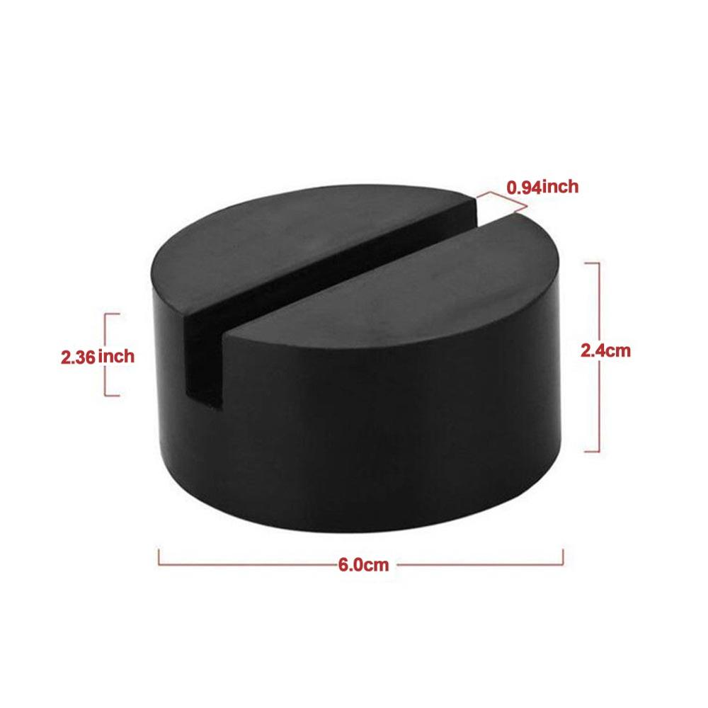 Image 5 - NEW Jacking Pad Vehicle Universal Floor Jack Disk Pad Adapter Rubber Blanket for Pinch Weld Side Rail Stand Black Round Shape