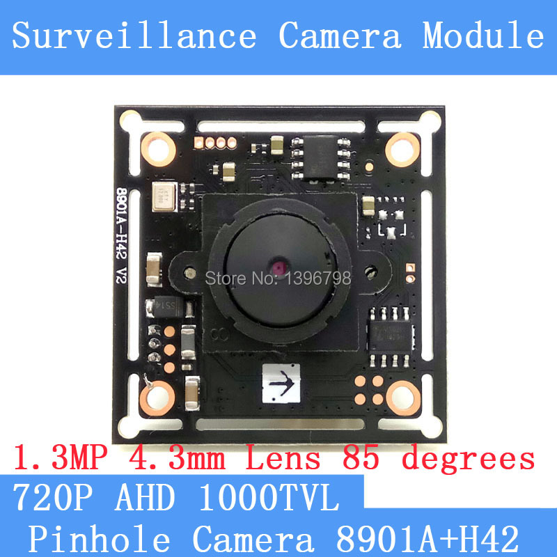4 3mm Pinhole camera HD 1 4 CMOS image sensor AHD 8901A H42 1000TVL Mini CCTV