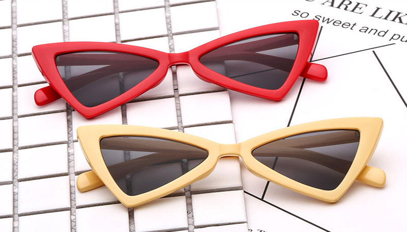 70b153f983e75 AiC 2018 New Cat Eye Mulheres óculos de Óculos de Sol Óculos de Sol  Triangular Moda pequeno quadro Óculos De Sol UV400. 5 6