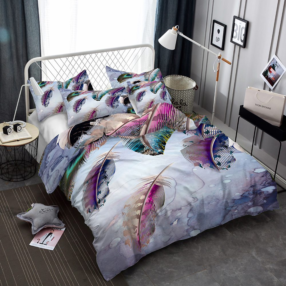 Winlife 3d Bedding Set With Matching Pillow Cases Feather