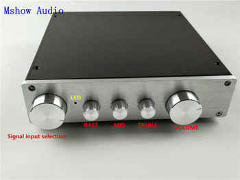 Mshow audio HIFI Class A audio preamplifier preamp amp tone adjustable WITH 4 pairs RCA input Source Selector 4 ways in 1 output - DISCOUNT ITEM  0% OFF All Category