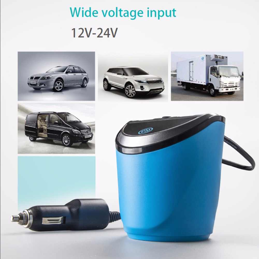 12-24V 3.1A Output USB Car Charger with Voltage Current Display Quick Charge Car Cup Holder Car Cigarette Lighter Socket Adapter