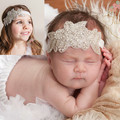 1Pc Retail  Baby Girls Cute Headbands Rhinestone flowers with leaves Headbands Children Kids Hair Accessories Photography Prop