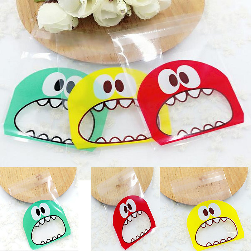 Packaging-Bags Wedding-Cookie Christmas-Gift Monster Candy 10cm Small Cute 7cm Sharp