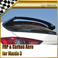Car styling For Mazda Mazda 3 Axela BM 14 17 Carbon Fiber DB Style Rear Spoiler (5 Door Hatch Back Model) Fiber Trunk Wing