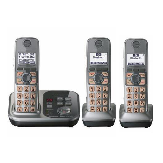 3 Handsets KX-TG7731S 1.9 GHz Digital Wireless Phone DECT 6.0 Link to Cell via Bluetooth Cordless Phone with Answering System