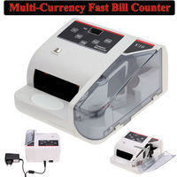 Free Shipping Bank Note Multi Currency Bill Counter Detector Money Fast Counting 100 240V W UV